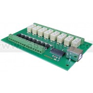 USB-OPTO-RLY88 - Modulo USB con 8 relè da 1A + 8 ingressi optoisolati