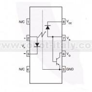 6N136 - Fotoaccoppiatore con fototransistor