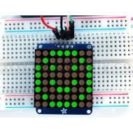 """Adafruit Small 1.2"""" 8x8 LED Matrix w/I2C Backpack - Green -"""
