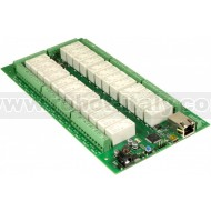 dS2824 - 24 x 16A ethernet relay + 24 Snubber