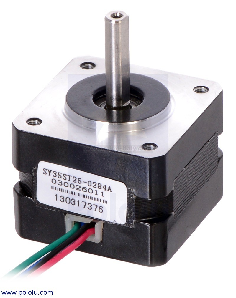 341207 1207 motore stepper bipolare nema 14 35x26mm for Nema 15 stepper motor