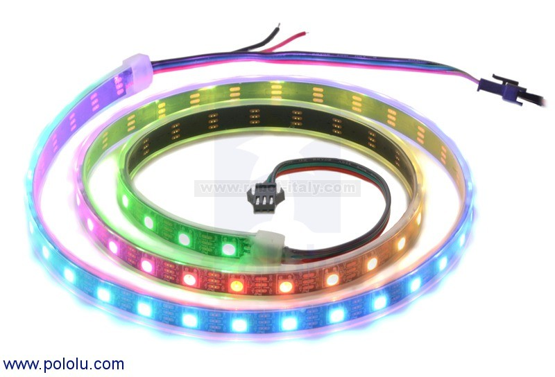 342529 2529 addressable rgb 60 led strip 5v 1m sk6812 da pololu a 24 77 su robot italy. Black Bedroom Furniture Sets. Home Design Ideas