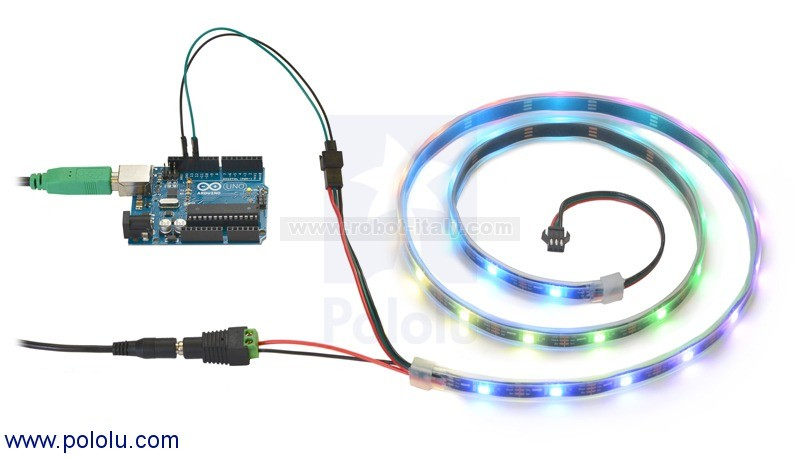 342529 2529 Addressable Rgb 60 Led Strip 5v 1m