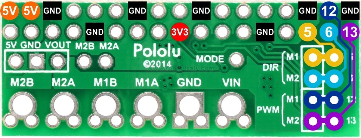 This compact expansion board plugs directly into the GPIO header on a Raspberry Pi B+ and provides an easy and low-cost solution for driving a pair of small ...