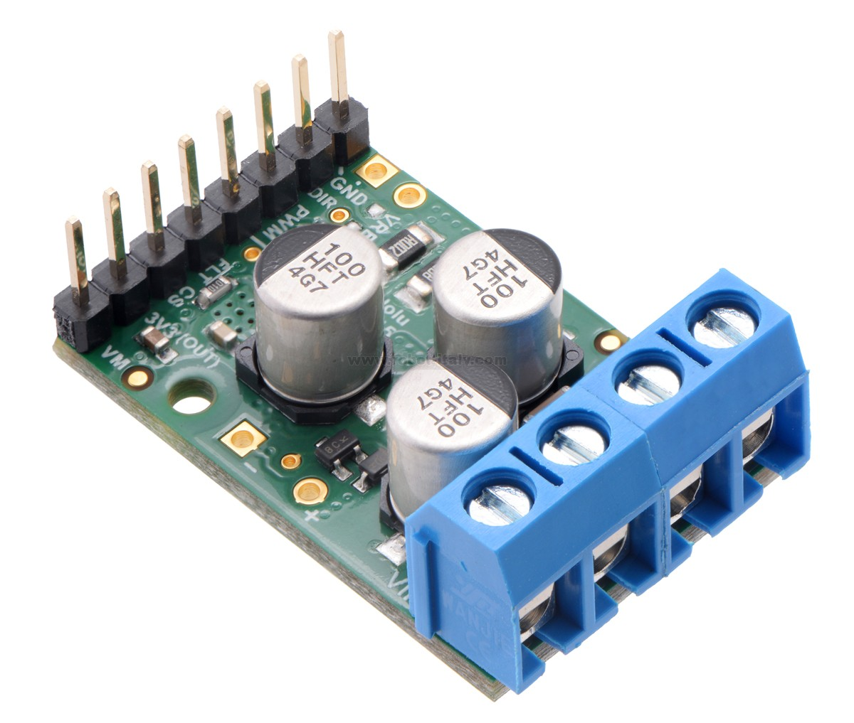 342994 2994 Pololu G2 High Power Motor Driver 18v25 Da Driving N Channel Mosfets With A Microcontroller This Discrete Mosfet H Bridge Enables Bidirectional Control Of One Dc Brushed The Small 13 08 Board Supports Wide 65