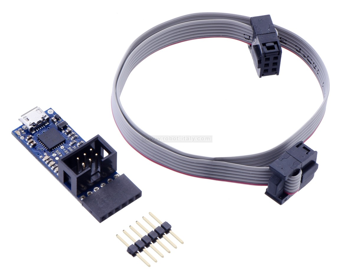 343170 3170 Pololu Usb Avr Programmer V2 Da A 950 Su For Atmel Microcontrollers The Emulates An Stk500 On Virtual Serial Port Making It Compatible With Standard Programming Software And Supports Devices Running At