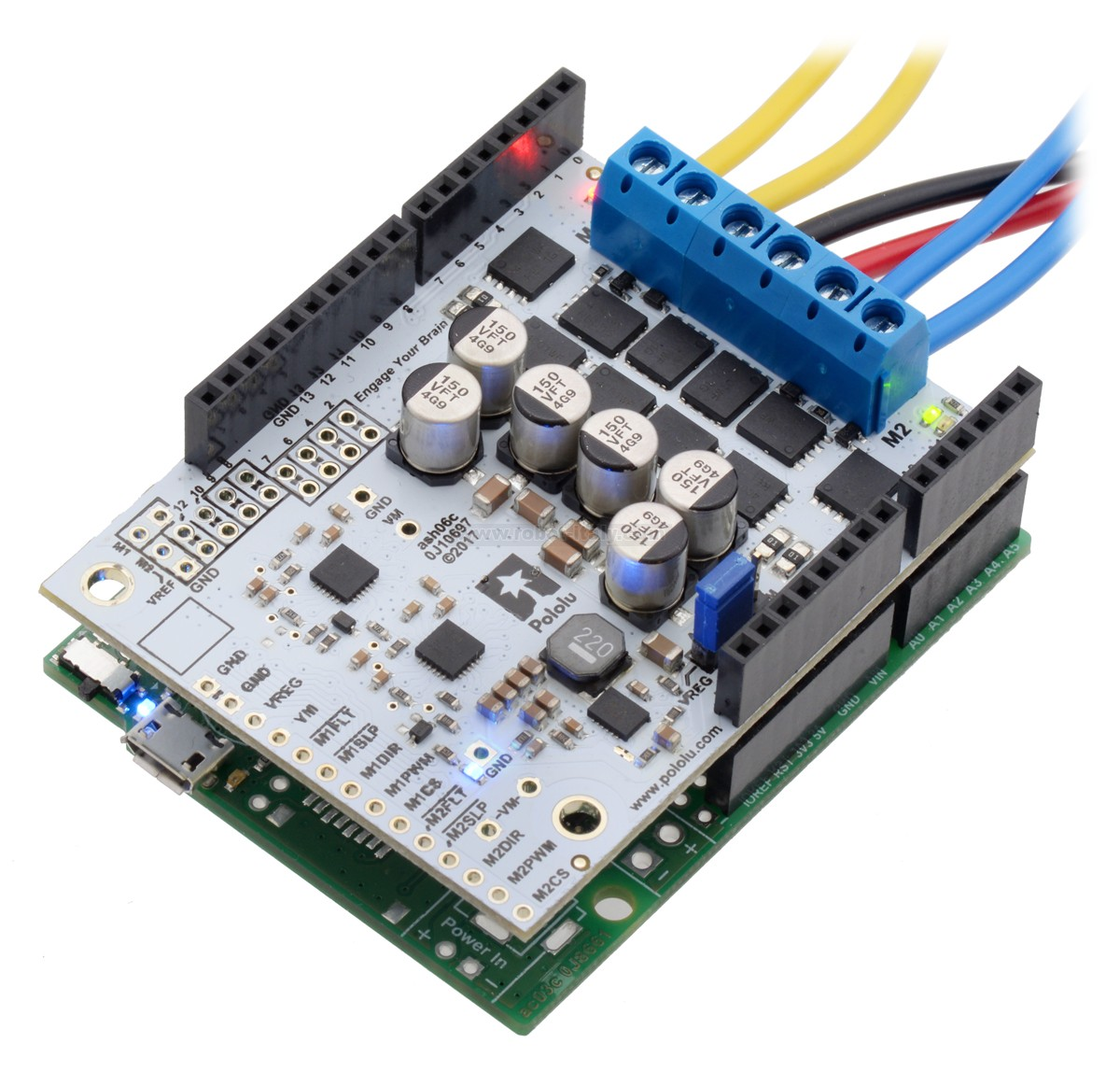 Pololu dual g high power motor driver