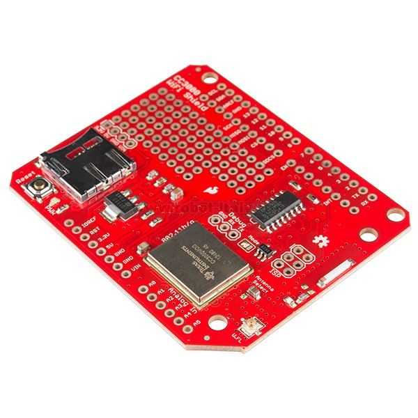 Cc wifi shield da sparkfun a su
