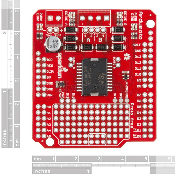 Sparkfun ardumoto shield kit da a
