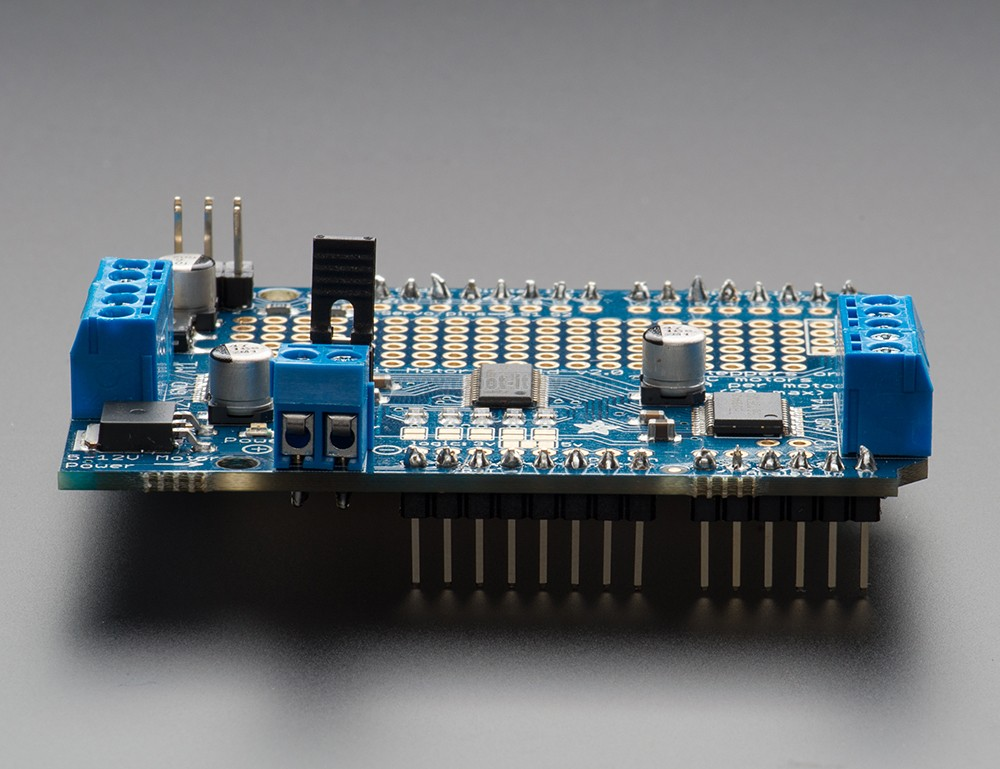 Adafruit motor stepper servo shield for arduino