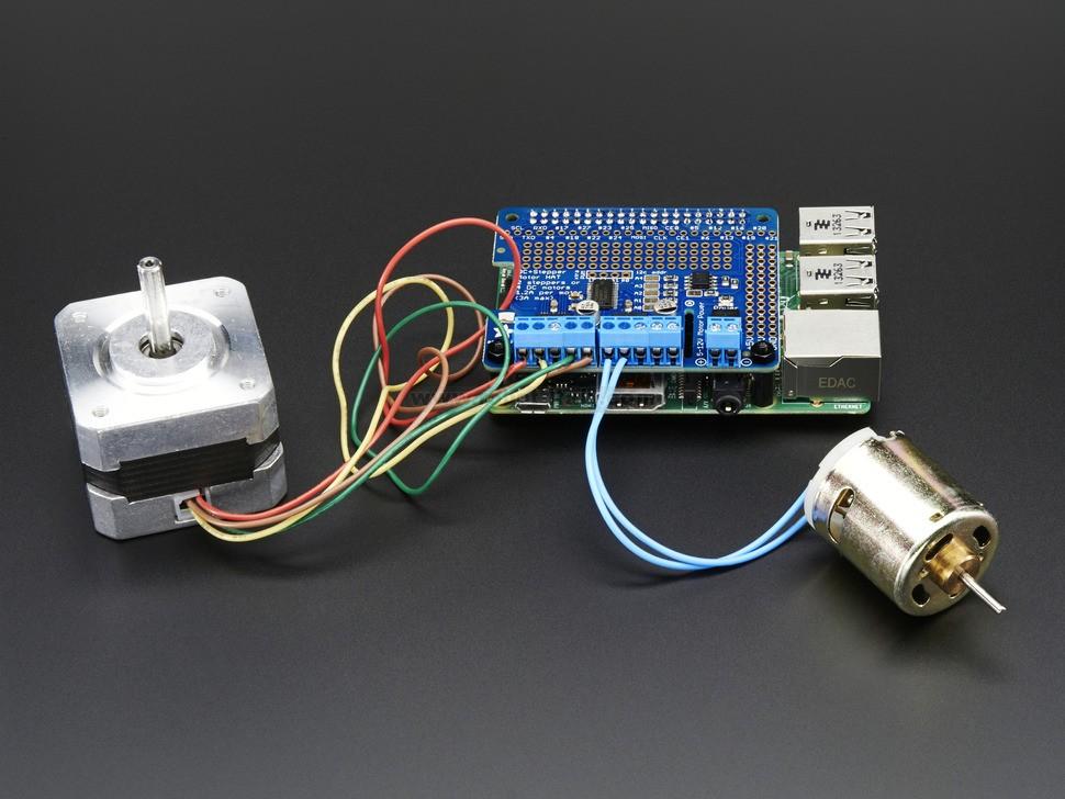 808239 Adafruit Dc Stepper Motor Hat For Raspberry Pi
