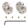 1999 - Pololu Universal Aluminum Mounting Hub for 6mm Shaft, M3 Holes (2-Pack)