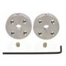 1997 - Pololu Universal Aluminum Mounting Hub for 4mm Shaft, M3 Holes (2-Pack)