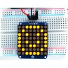 "Adafruit Small 1.2"" 8x8 LED Matrix w/I2C Backpack - Yellow -"